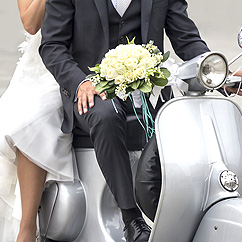 Photo mariage scooter