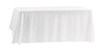 Nappe blanche rectangle 3m polyester