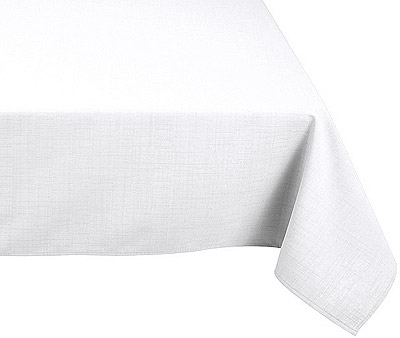 Nappe Polyester Rectangle Mariage Blanche